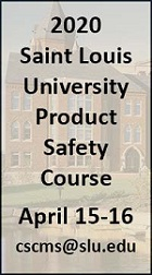 Register for the CERTIFICATE IN PRODUCT SAFETY MANAGEMENT 2020 COURSE